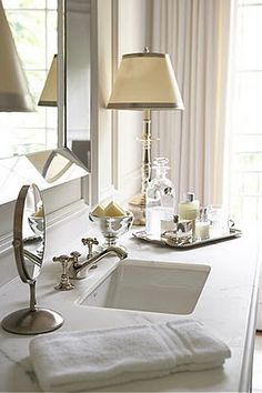 Bathroom styling with silver plate accessories - Very, Very Pretty!