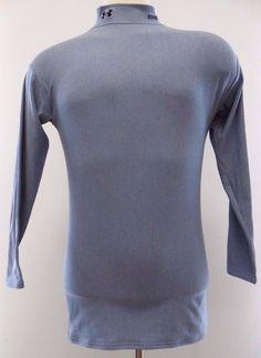 Under Armour Mock Shirt Gray XL Mens Longsleeve Compression Top MU Mens Size Man #UnderArmour #BaseLayers