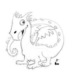 dragon simple drawing drawings dragons journal easy