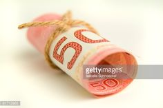 Stock Photo : Fifty Dollar Bill Tied with String