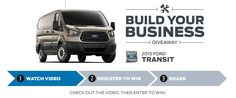 I just entered for a chance to win a new 2015 Ford Transit during the Ford Means Business Giveaway!