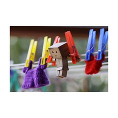 Oh boy.  Danbo on the clothes line.  Let me down :)