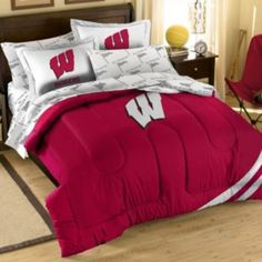 109 99 Ncaa Wisconsin Badgers Comforter Set Queen