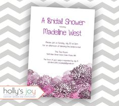 Floral Whimsy Bridal Shower Invitation - hollysjoy on Etsy