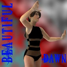 Dawn's Beautfiul Swimwear - $1.99 :  Dawn's Beautiful Swimwear for summer fum.  This was made specifically for Dawn and her shapes. Does not work in Poser at this time.  You get 7 different colors and textures.  Needed:  PC/Mac Compatible  Daz 4+  Dawn by HiveWire3D