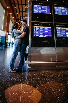 Sunrise Engagement Photography -Airport Style-
