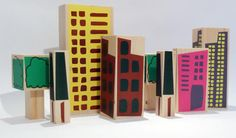 architect blocks for kids, Christopher Jarratt Wooden Building Blocks, Wooden Blocks, Kids Blocks, Good Daddy, Eco Friendly Toys, Woodworking Toys, Miniature Houses, Wood Toys, Toy Boxes