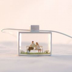 Anne Gericke makes great little people diorama jewelry