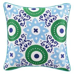 Bring a bold touch of style to your sofa, chaise, or bed with this chic Jennifer Paganelli pillow. Offering a plush, comfortable fill, this inviting accent i...