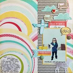 Megan Klauer's layout using @Mrs. Coleman Circle Happy Place kit #scrapbook