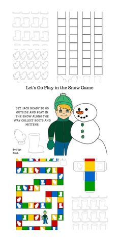 LET'S GO PLAY IN THE SNOW FREE PRINTABLE BOARD GAME