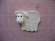 Clay, Hearty, dough sheep Christmas tree ornaments