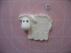 Clay, Hearty, dough sheep Christmas tree ornaments