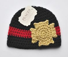 14a5c0046bc Baby+Hats+++Fireman+ +Firefighter+Baby+Beanie+by