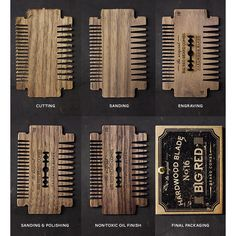 """174 Likes, 3 Comments - Big Red Beard Combs (@bigredbeardcombs) on Instagram: """"We put a lot of love into every Big Red Beard Comb. Shown is some of the steps involved in…"""""""