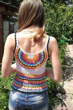 Como hacer una blusa de tirantes a crochet04