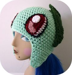 pokemon crochet hats | Crochet Chickorita Chickarita Pokemon Hat Amigurumi | Kawaii Crochet