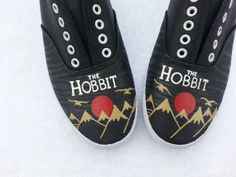 The Hobbit book cover handpainted shoes