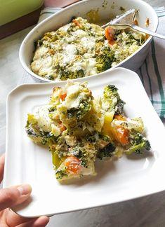 Zapečená brokolice s ricottou a bramborem Bruschetta, Ricotta, Mozzarella, Low Carb, Ethnic Recipes