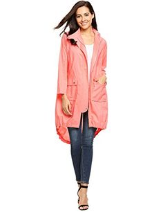 fa088c1c5c8ec Zeagoo Women s Plus Size Lightweight Anorak Parka Coat Slim Fit Jackets