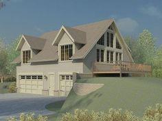 Garage Apartment Plan, 006G-0106  Vaulted Space with loft over 3 garage bays