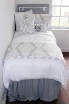 Grey Restoration Hardware Inspired Designer Bed In A Bag Set