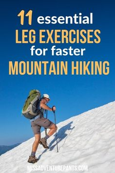 Lower body strength training will help you hike longer and faster while carrying a heavy backpack. Use these 11 exercises to build muscle and endurance in your legs. Backpacking Tips, Hiking Tips, Hiking Usa, Fitness Workouts, Training Workouts, Men's Fitness, Workout Routines, Muscle Fitness, One Leg Deadlift
