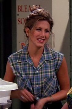 "Short shirt and high-waisted capri pants | 20 Things Rachel Wore In ""Friends"" That You'd Definitely Wear Now"