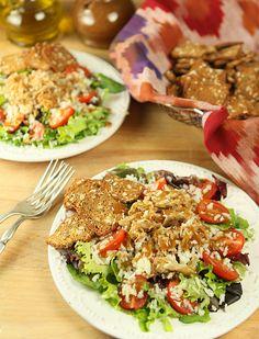 Kalua Pork Salad with Homemade Teriyaki Sauce