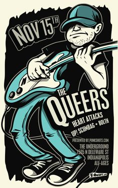 GigPosters.com - Queers, The - Heart Attacks, The - Up! Scumbag - Bolth