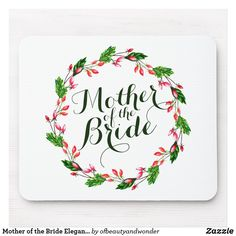 Shop Mother of the Groom Elegant Wedding Bridal Shower Gifts, Bridal Gifts, Wedding Gifts, Wedding Bride, Gifts Love, Simple Gifts, Valentine Day Gifts, Valentines, Floral Wreath Watercolor