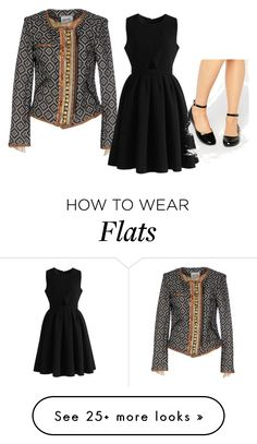 """""""Jacket with Little Black Dress"""" by sillycatgrl on Polyvore featuring Bazar Deluxe, Chicwish and London Rebel"""