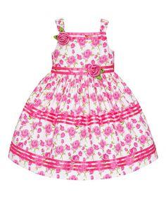 Love this Pink Rose Ruffle Dress - Toddler & Girls on #zulily! #zulilyfinds
