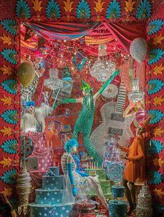 Bergdorf goodman new york christmas windows 2015 vitrines витрина. Visual Merchandising Displays, Visual Display, Display Design, Display Ideas, Design Shop, Retail Windows, Store Windows, Christmas Window Display, Christmas Windows