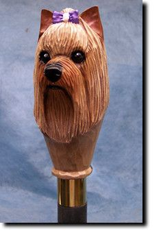 Yorkshire Terrier Dog Walking StickOur unique selection of handpainted Dog Breed Walking Sticks is sure to please the most discriminating Dog Lover!Be the envy of everyone with this unique canine...