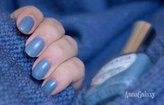 """Anna Galaxy: El Corazon. Лак для ногтей серии Active Bio-gel Color gel polish """"Dalmatian"""" № 423/89 trendy jeans"""