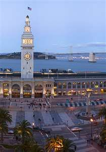 Port of San Francisco. Calypso and I stood there just a few days ago. The video of me she shot is just on the other side of that clock...looking at the bridge in the background.