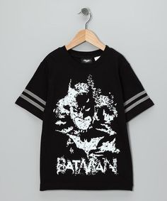 Take a look at this Black Glow-in-the-Dark Batman Tee - Kids by Batman on #zulily today!