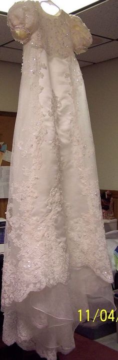 This is over the top exotic baptismal gown and i love it. heirloom christening gown patterns - Google Search