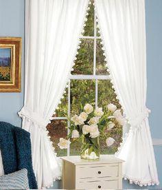 Ballfringe For Muslin Curtains Home Living Pinterest Window - Classic ball fringe curtains