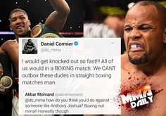 "Daniel Cormier ""would get KO'd so fast"" #mma #ufc"