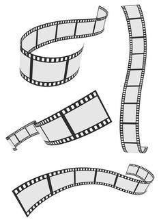 Film Strip 4 Roll Set <<okay so the horizontal one on the collarbone>> Elefante Tribal, Deco Cinema, Camera Tattoo Design, Camera Tattoos, Colegio Ideas, Jean Renoir, Tattoo Photography, No Photoshop, Hollywood Theme
