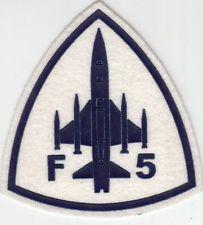 PARCHE ESPAÑA AIR FORCE TALAVERA AFB F-5 TIGRE BLANCO DEL ESTUDIANTE DE PLÁSTICO PARCHE