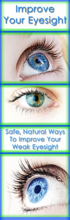 Most of us these days spend long durations of time staring at the computer or TV screens. This is not good for the eyes. Here's couple of safe, natural ways to improve your eyesight. #eyes #health #eyesight #natural #remedies #ways