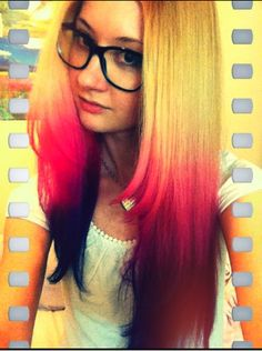 Beautiful Pink Blue Ombre Hair #briteorganix