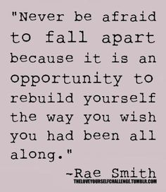 Rebuilding yourself