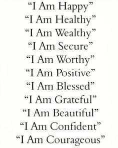 Vie Positive, Affirmations Positives, Positive Affirmations Quotes, Affirmations For Women, Self Love Affirmations, Law Of Attraction Affirmations, Money Affirmations, Affirmation Quotes, Positive Thoughts