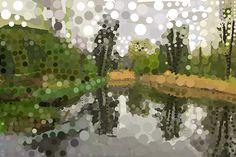 Andrea Mora title: Der kleine Teich im Schwelgernpark (The little pond in the Schwelgernpark) (2013) original size: 90 x 60 cm digital painting