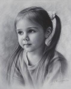 #Child portrait, dry brush technique by Igor Kazarin on DeviantArt