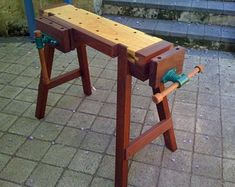 Plans for the Original Saw Horse on Steroids Green Woodworking, Woodworking Skills, Woodworking Projects Diy, Fine Woodworking, Wood Projects, Woodworking Furniture, Woodworking Horse, Woodworking Blueprints, Woodworking Bench Plans